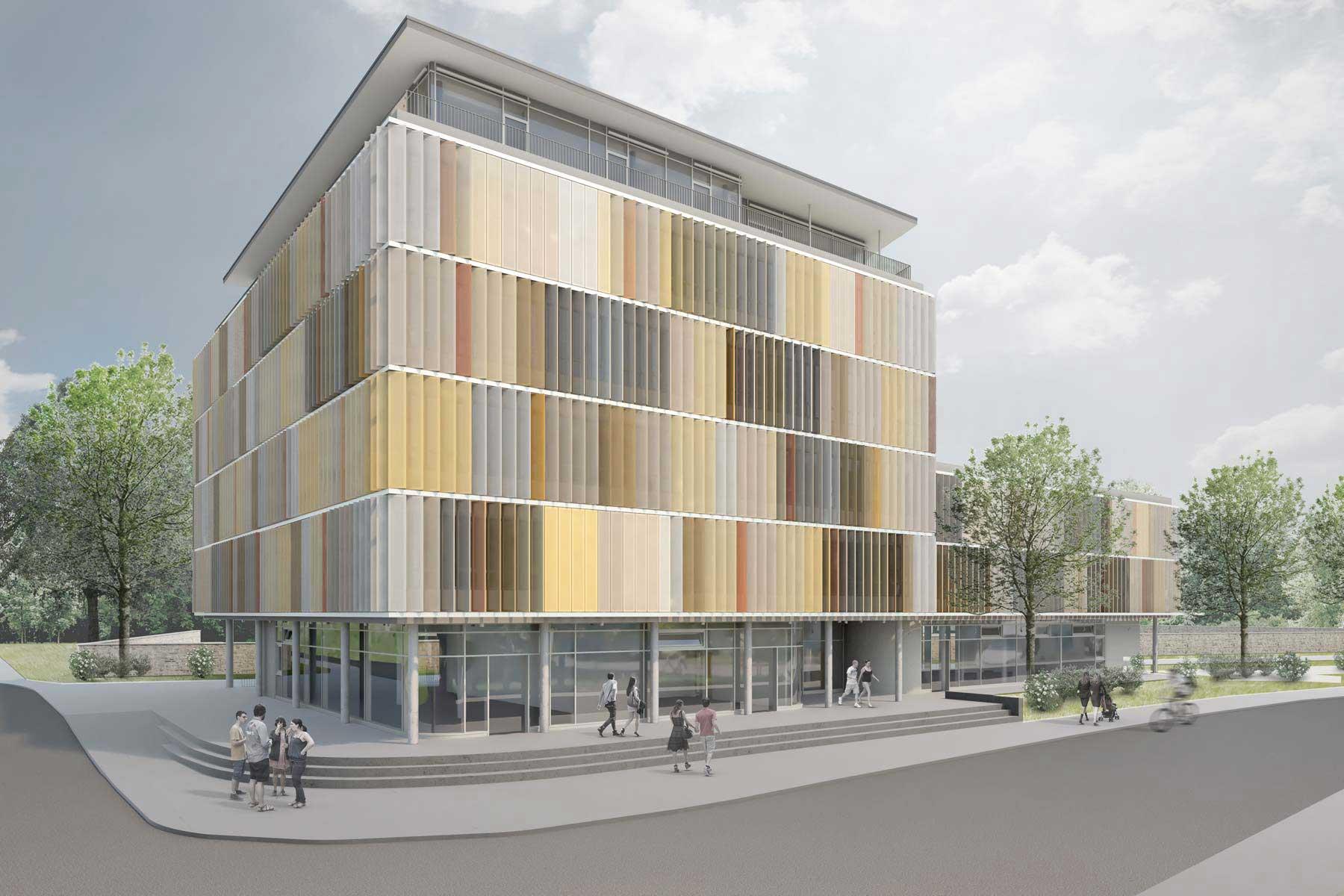 ZAHN | ZENTRUM Radolfzell Gebaeudevisualisierung Aerztehaus / Architekt
